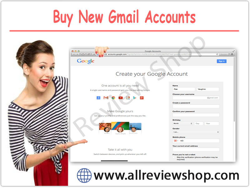 Buy New Gmail Accounts