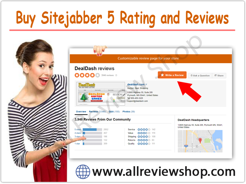 Buy Sitejabber 5 Rating and Reviews