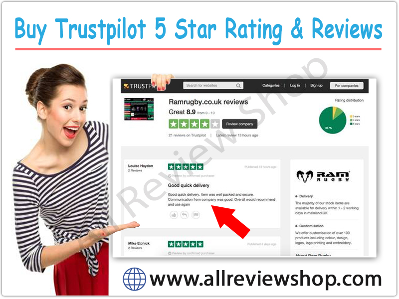 Buy Trustpilot 5 Star Rating & Reviews